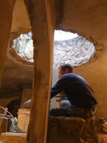 hobbit house construction formwork concrete dome stucco finish